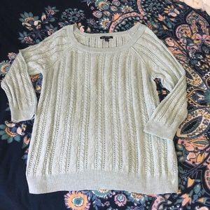 American Eagle Blue Cable Knit Sweater